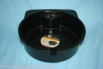 8.5 quart OIL DRAIN PAN spout PLASTIC change your own oil save money BLACK