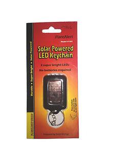 Solar Powered LED Keychain