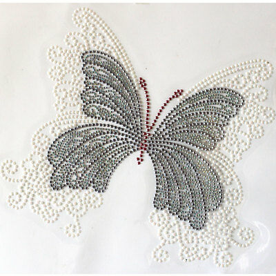 Korea and Rhinestone Transfer Hot Motif crystal Rainbow sequin butterfly LOVE