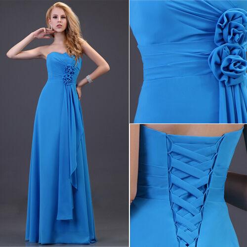 ❤Princess❤Long Formal Prom Bridesmaid Party Evening Wedding Homecoming Dress