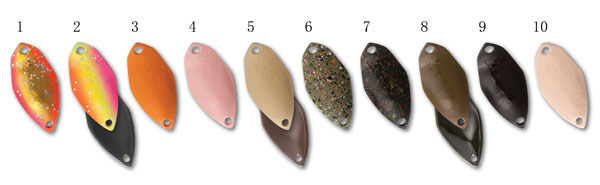 FOREST Mebius type2 2.4g Trout Spoons 10 color set