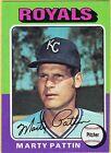1975 Topps Marty Pattin Kansas City Royals #413 Baseball Card