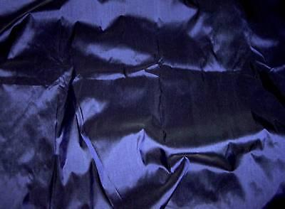 6YDs DARK BLUE 100% PURE SILK FABRIC VICTORIAN DRESS DRAPE SKIRT COSTUME