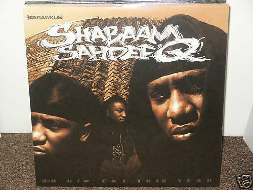 "SHABAAM SAHDEEQ / 3-D 12"" OG US 2000 SEALED HIP HOP RAWKUS RECORDS EAT THIS YEAR"