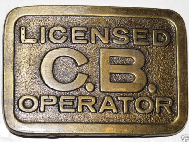 Vintage 1970's LICENSED C.B. OPERATOR Retro Belt Buckle