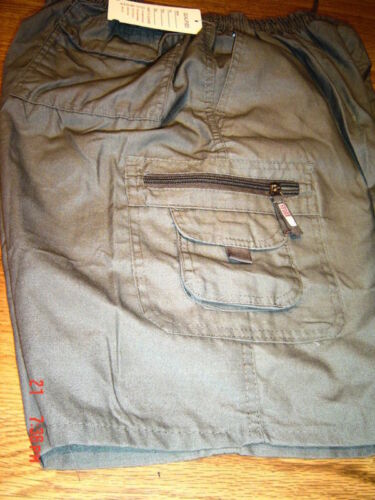 CARGO CASUAL SHORTS COOL SMART  MULTI POCKET ALL SIZES light cool zip pocket
