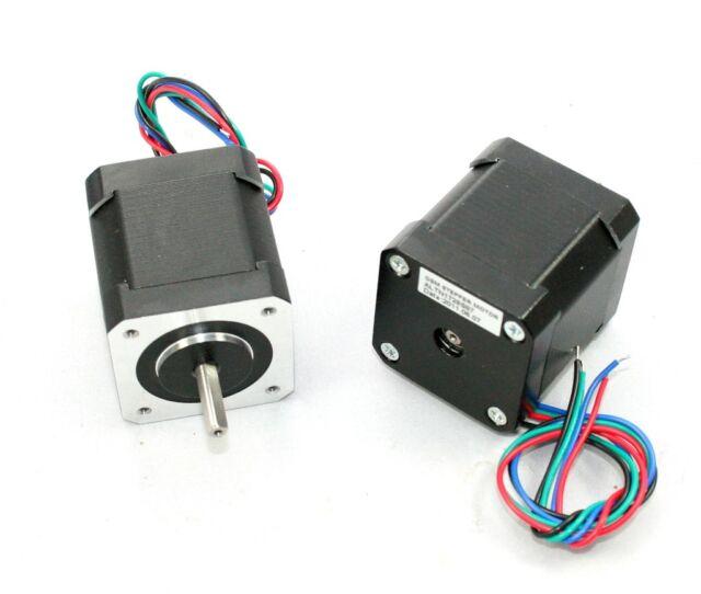 NEMA17 Single Shaft 2A/83oz-in Stepper Motor for 3D Printers - Lot of 5