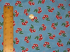 Amys-Aprons-Retro-Cherry-Allover-Daisy-Kingdom-Cotton-Quilt-Sew-Fabric-BTY