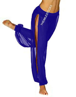 TMS Multi 1 Slit Harem Yoga Pant Belly Dance Aladdin Trouser Student Pantaloons