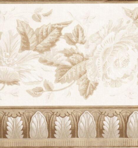 VICTORIAN ANTIQUE TAN LEAVES MOLDING Wallpaper bordeR Wall