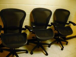 The-HERMAN-MILLER-AERON-DLX-Office-Chair-CARBON-BLACK-B