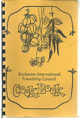 ROCHESTER NY VINTAGE ETHNIC COOK BOOK INTERNATIONAL FRIENDSHIP COUNCIL *NEW YORK