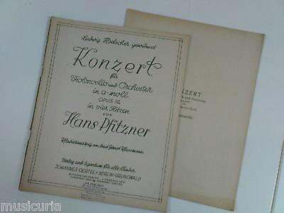cello HANS PFITZNER op.52 a minor konzert