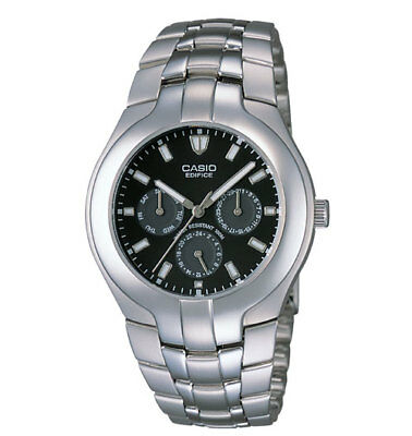 Casio Men's Edifice Silvertone 3-Eye Watch, 100 Meter WR, EF304D-1AV