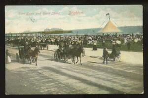 Sussex-BRIGHTON-Hove-Lawn-Bandstand-1907-RP-PPC