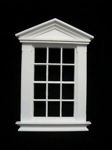 Window-Georgian-12-Pane-Pedimented-Window-Jacksons-Miniatures-1-12-scale-B05