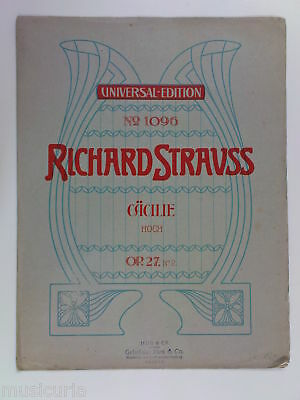 voice RICHARD STRAUSS op.27/2 CACILIE