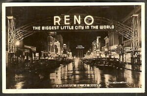 1930-039-s-RPPC-Real-Photo-PC-DOWNTOWN-Reno-Nevada-c-1945