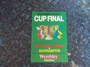 1979 league cup final nottingham forest v southampton ebay. Black Bedroom Furniture Sets. Home Design Ideas