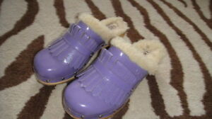 UGGS-4-PURPLE-CLOGS-SHOES-GIRLS