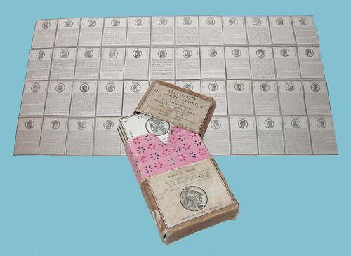 Giuoco di carte storiche Istoria Greca 1815 Pirotta