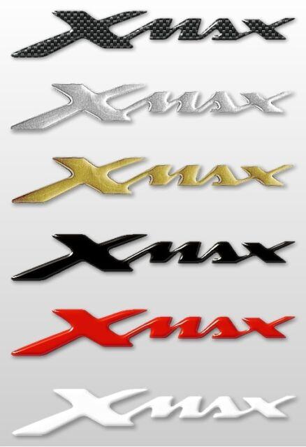 2 ADESIVI/STICKERS in RESINA 3D SCRITTA XMAX per SCOOTER Accessori YAMAHA X MAX