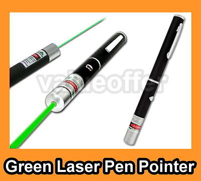 5mW 532nm Astronomy Mid-open Green Beam Light Laser Pointer Pen Class 3A Black