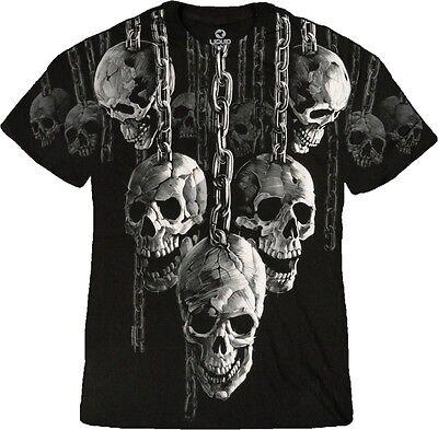 NEW Fantasy Skull Hanging Out Biker Gothic Skeleton Shirt M L XL 2X 3X 4X 5X 6X