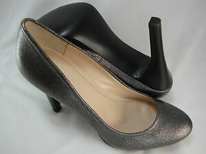 Calvin-Klein-Womens-Kendall-Dark-Silver-Grey-Pumps-Platform-Wedged-Heels-Shoes
