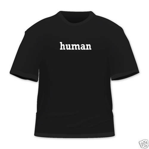 human Funny One word T Shirt All colours & Sizes