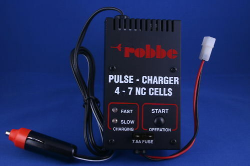 ROBBE PULSE CHARGER 4-7 NC CELLS 7.5A PULSE NEW