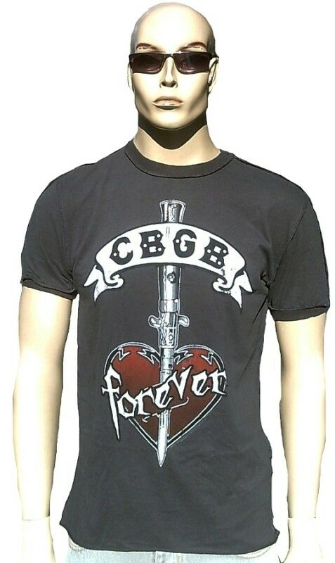 Vintage Amplified Ufficiale Cbgb Forever Tattoo Rock Star Star Star Vintage Vip T-Shirt L 0d274d