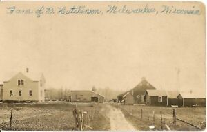 Hutchinson-Farm-Milwaikee-Milladore-WI-RP-Postcard