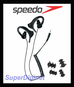 Speedo-Aquabeat-Waterproof-Headphone-Earphone-w-earbirds-for-MP3-amp-iPhone-NEW