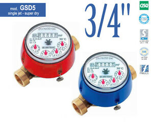 NEW-COLD-or-HOT-WATER-METER-GSD5-3-4-034-2-5m-h-130mm