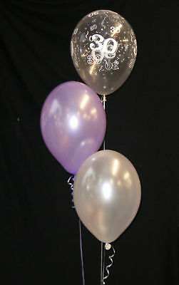 30th PEARL WEDDING ANNIVERSARY - 30 HELIUM BALLOONS