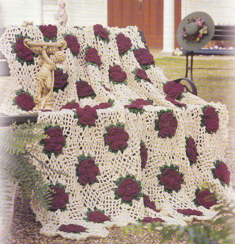 Crochet Pattern Rose Trellis Afghan : More crochet afghans collection on eBay!