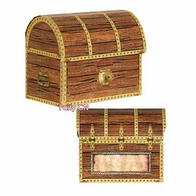 Pack of 4 Small Treasure Chest Boxes - Pirate Party