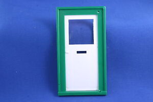 Image Is Loading DOLLS HOUSE PLAIN FRONT DOOR WHITE GREEN PLASTIC