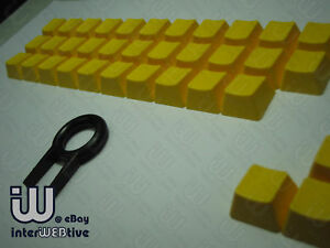 Yellow-color-37-Keycaps-with-Yellow-text-on-top-for-Cherry-MX-Series-keyboard