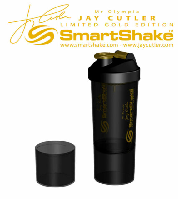 Mr. Olympia Jay Cutler SmartShake Protein Blender Shaker Cup Mixer LARGE 27 OZ