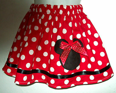 CUSTOM BOUTIQUE MINNIE MOUSE SKIRT 12M 18M 2T 3T 4T 5T