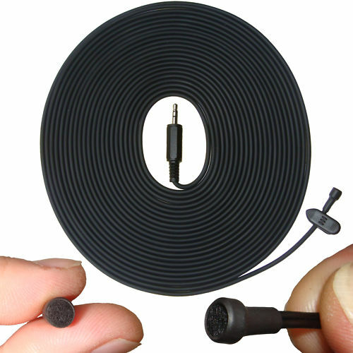 MINI LAVALIERE LAPEL MICROPHONE FOR VOICE RECORDER VIDEO CAMERA 15M LONG CABLE