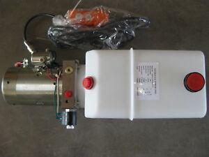 Dump-Trailer-Pump-Single-Acting-Hydraulic-6-Quart