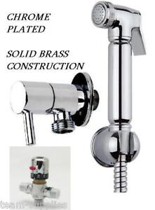 THERMOSTATIC-CHROME-DOUCHE-MUSLIM-BIDET-SHATTAF-SHOWER-SPRAY-BRASS-KIT-SET-AVMV