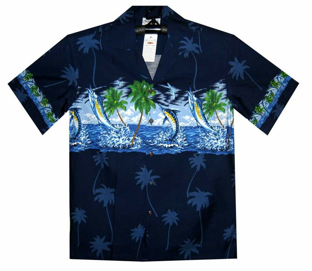 89d83ecfaeab ... PLA ORIGINALE Hawaii Camicia Made IN IN IN Hawaii Hawai MARLIN 068a71  ...