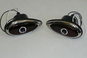 38-39-Ford-Tear-Drop-Tail-Lights-W-Blue-Dots-Fits-Hot-Rod-Rat-Rod-Chevy-Mopar