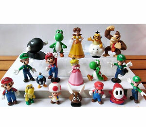 NEW-Nintendo-Super-Mario-Bros-Figure-Set-of-18pcs
