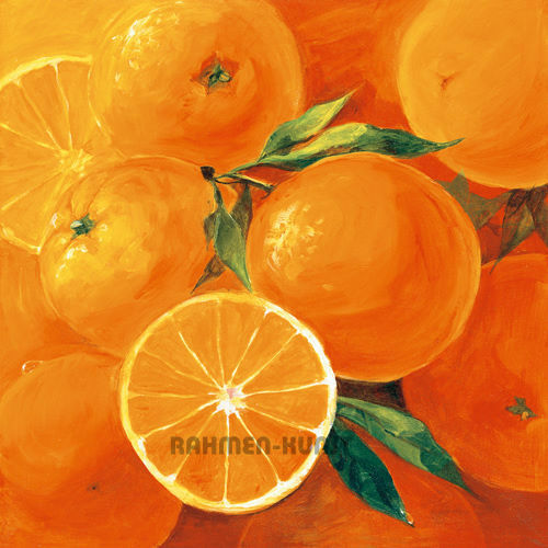Panasenko Obst Äpfel Zitronen Kirschen Orangen Mini-Bild 14x14 Küche