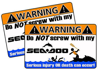 Funny Seadoo Warning Sticker Decal XP GTX RXP RXT GTI